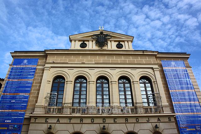 Fachada principal cielo Teatro de Rojas Toledo