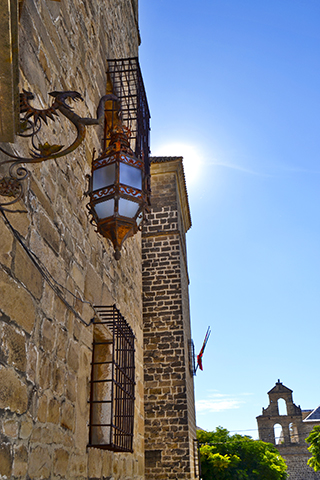 Farol fachada piedra Iglesia San Lorenzo Úbeda Jaén