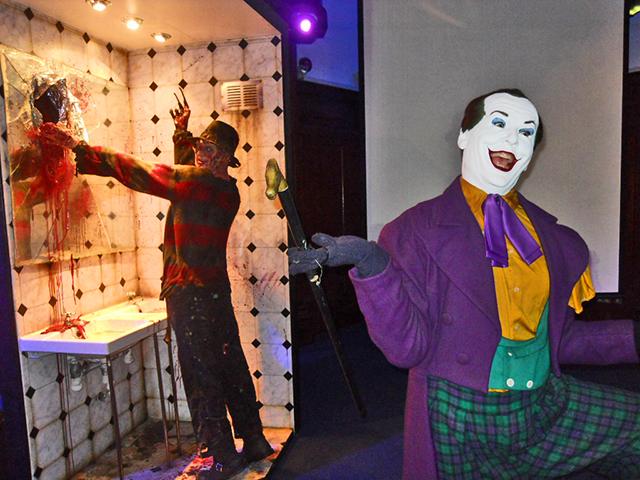 Freddy Krueger Joker figuras Museo Cera Dublín