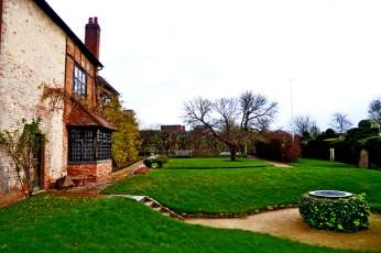 Jardín casa muerte Shakespeare Nashs House Stratford-Apon-Avon