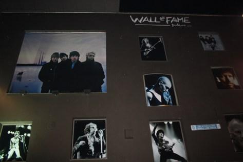 Muro fama cantantes irlandeses Dublín