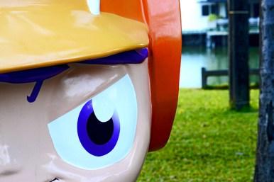 Estatuas manga anime parque Lumphini Bangkok