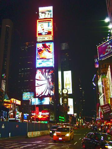 Time Square luces neones noche Nueva York