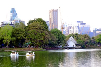 Patines lago parque Lumphini Bangkok