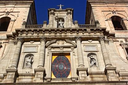 Fachada torres decoración central fachada Los Jesuitas Toledo