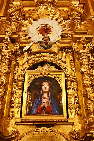 Virgen de las Batallas junto a Alfonso VIII