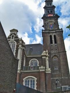 Fachada iglesia westerkerk centro histórico Amsterdam