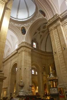 Interior pilares mezquita mayor Colegiata Xàtiva