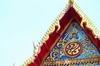 Friso decoración oro Museo Lanna Lampang Tailandia