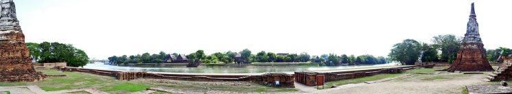 Panorámica ruinas Parque Histórico Ayutthaya Reino Siam