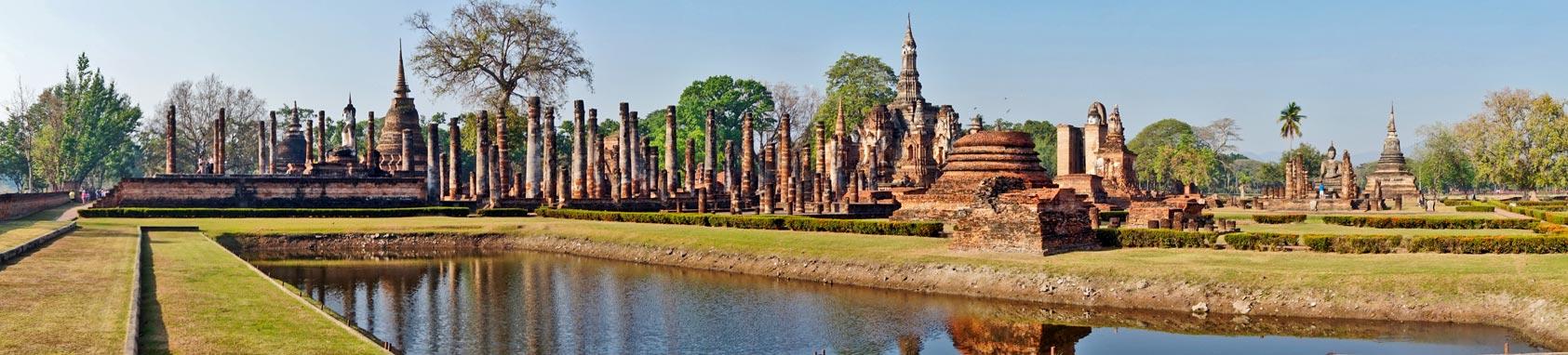 Parque Histórico Sukhothai panorámica