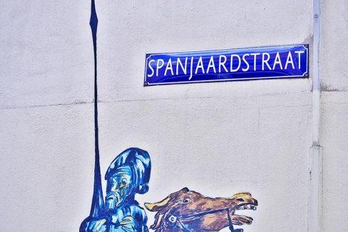 Don Quijote y Sancho calle España Alkmaar