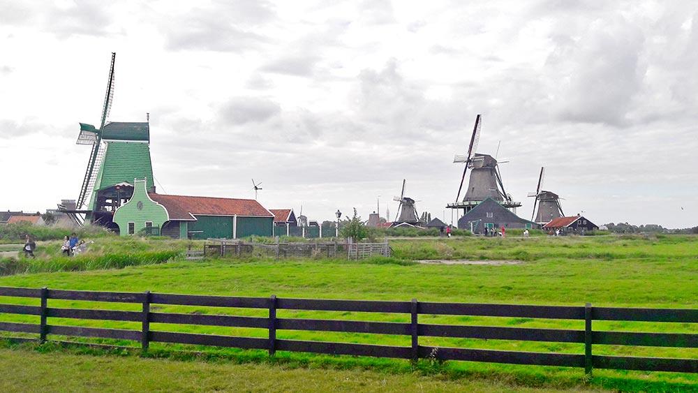 Molino de grano y aceite región Zaanse Schans