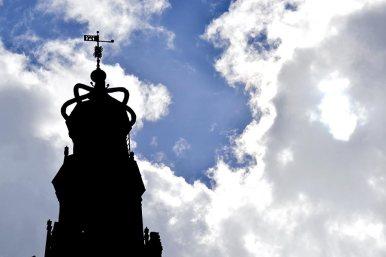 Silueta sombras torre Casa del Peso Alkmaar
