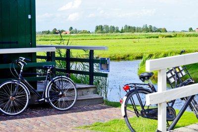Bicicletas césped Zaanse Schans