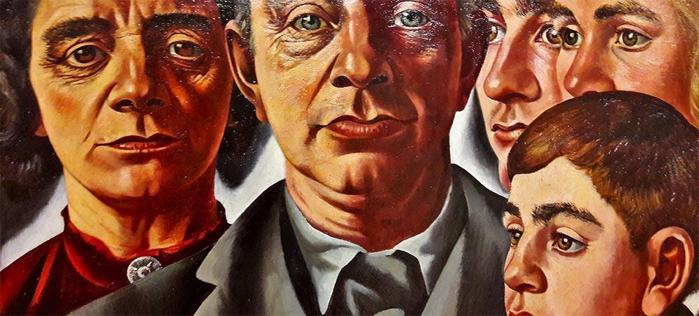 Pintura cuadro rostros familia Grote Kerk