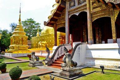 Panorámica entrada Wat Phra Sing Chiang Mai