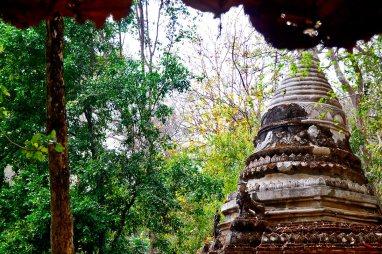 Chedi indonesio templo Wat Sakithaka jungla montaña Chiang Mai