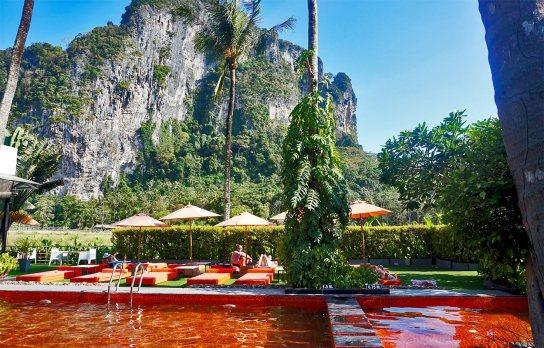 Ao Nang Paradise Resort piscina montaña vegetación Krabi