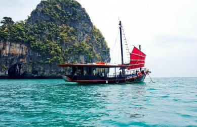 Barco tour Krabi Sunset Cruises 4 islands Krabi