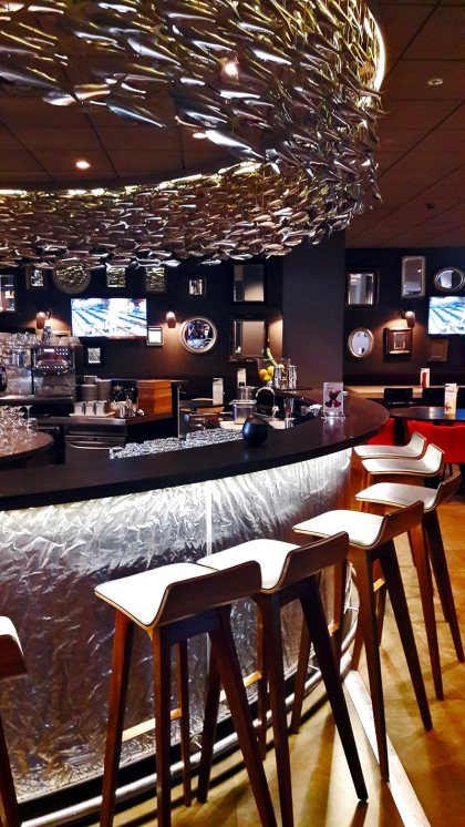 Barra bar floor restaurant lounge diseño hotel Mercure hotel city Amsterdam