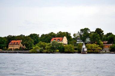 Viviendas palacios madera parque natural archipiélago Estocolmo Suecia