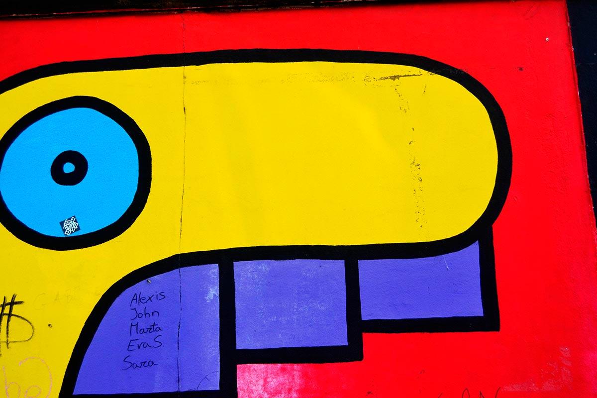 Mural Rostros Thierry Noir East Side Gallery Berlín
