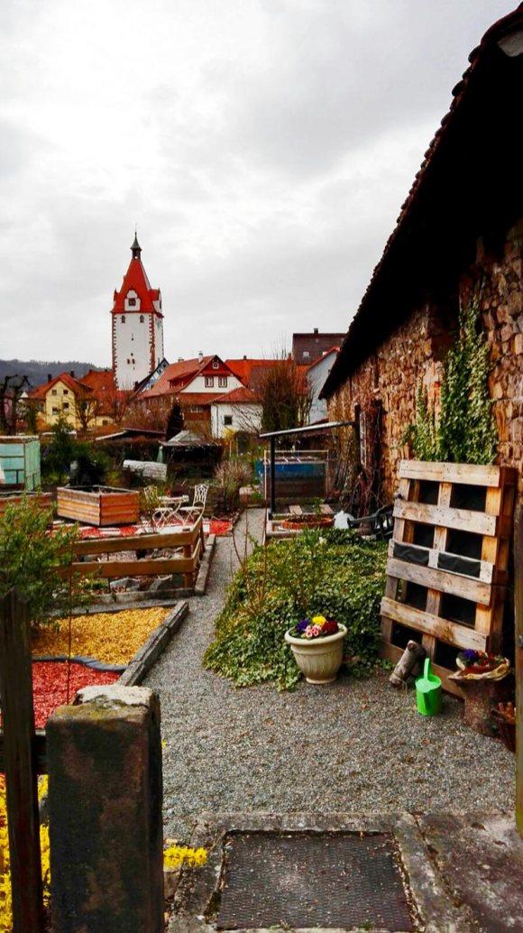 Panorámica jardín torre ciudad Gengenbach Alemania