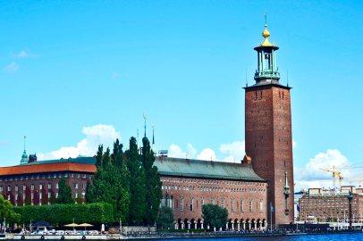 Panorámica ayuntamiento de Estocolmo Premios Nobel