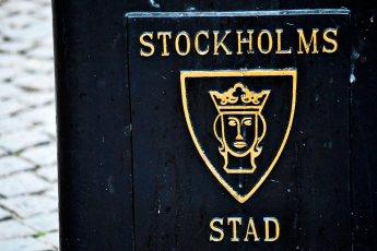 Relieve papelera pública Gamla Stan Estocolmo