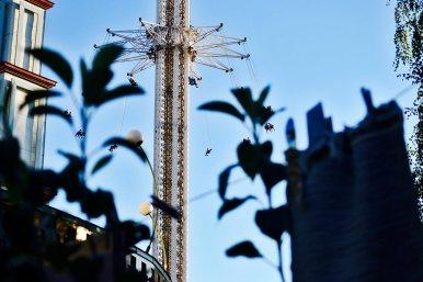 Sillas voladoras parque atracciones Gröna Lund Estocolmo