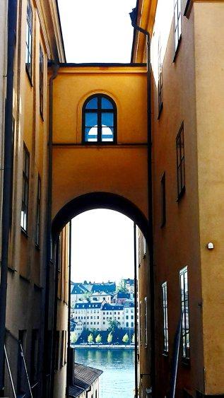 Vistas arco isla Södermalm Estocolmo Suecia