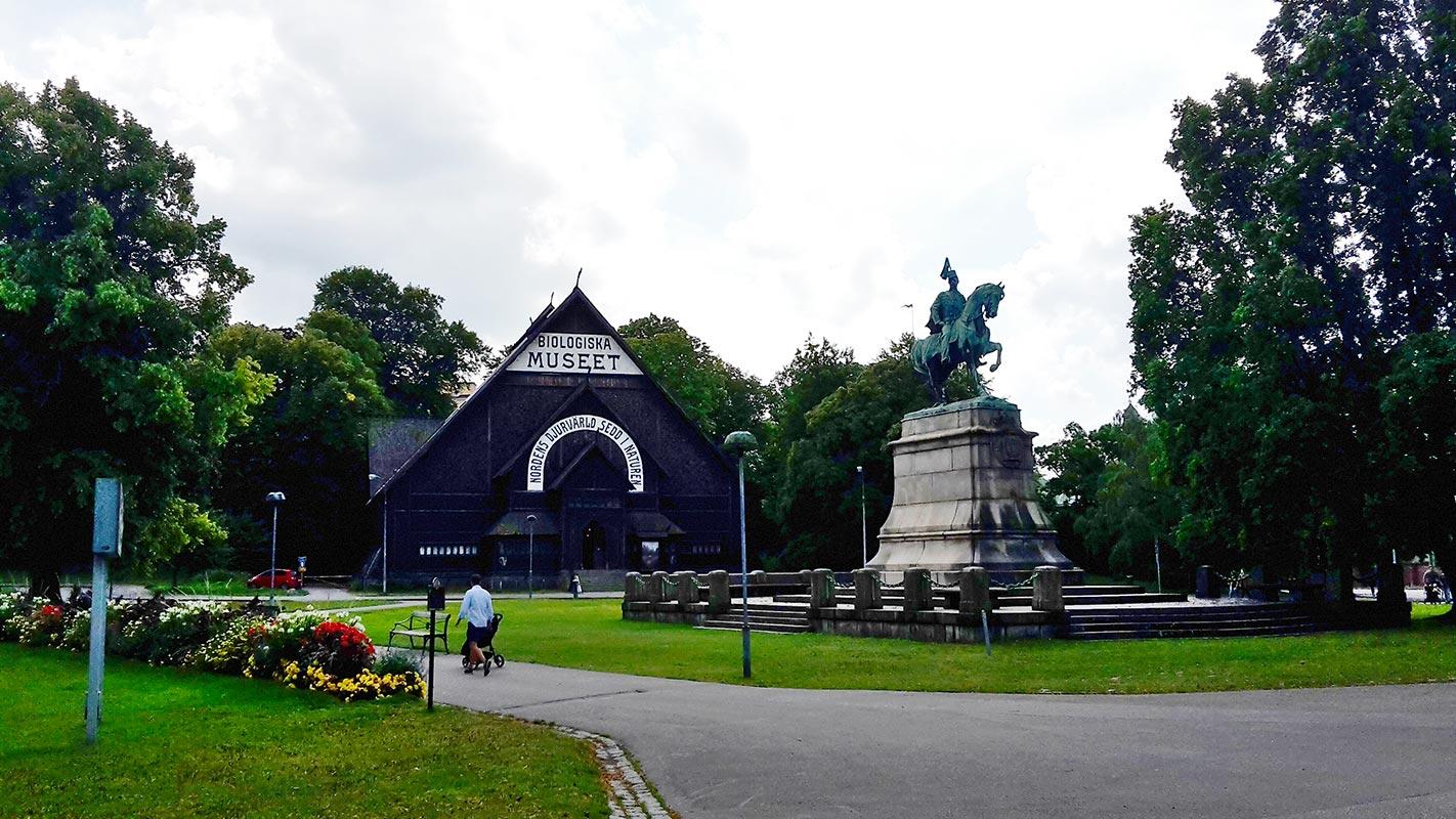Panorámica Museo biología Djurgarden Estocolmo
