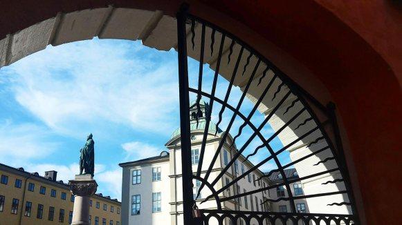Escultura Birger Jarl centro Gamla Stan histórico Esctocolmo