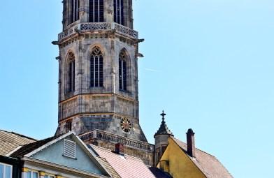 Torre iglesia reloj Rottweil cielo