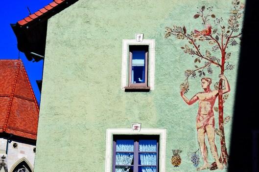 Mural clásico pared verde Haupstrasse Rottweil