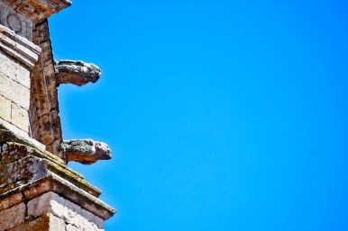 Detalle gárgolas torre catedral Ciudad Rodrigo Salamanca