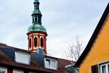 Torre iglesia catedral centro Offenburg Selva Negra Alemania