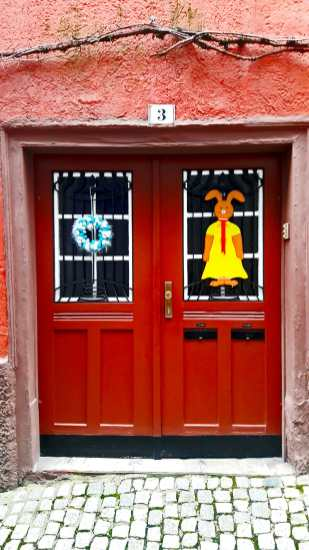 Decoración conejo guirnalda puerta vivienda Esslingen Am Neckar