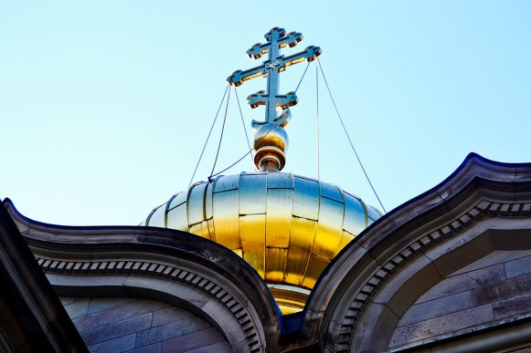 Cúpula cruz ortodoxa Iglesia rusa Baden Baden Alemania