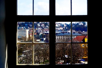 Ventana vistas viviendas alrededores Mitte Stuttgart Alemania