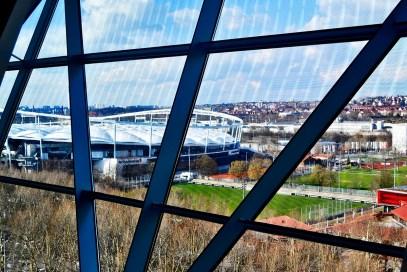 Vistas ventana estadio Mercedes Benz Arena Stuttgart