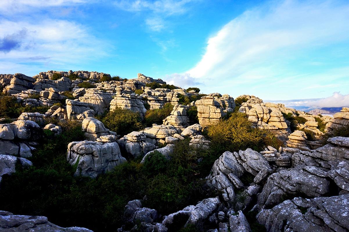 Formaciones rocosas kársticas El Torcal de Antequera Málaga