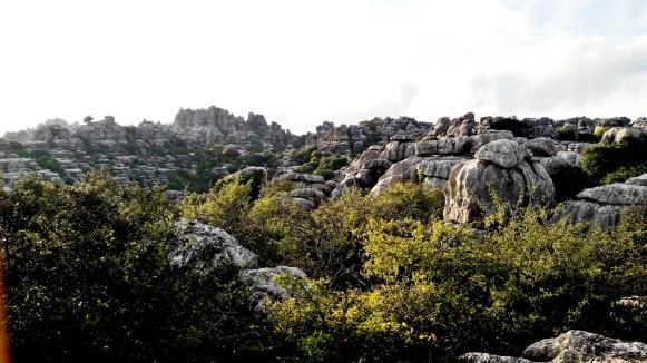 panorámica montañas calcáreas El Torcal Antequera