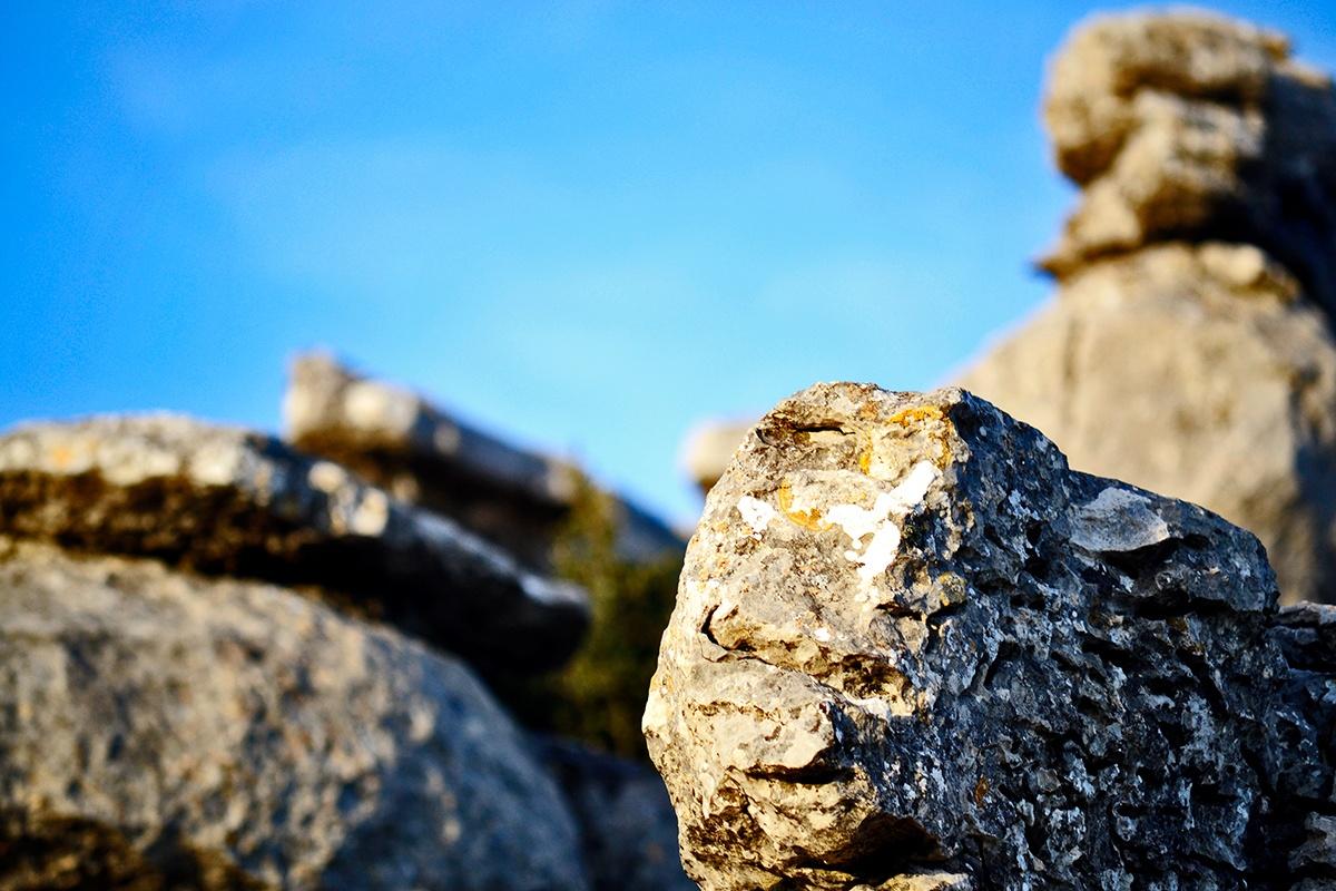 Piedra calcárea primer plano El Torcal Málaga