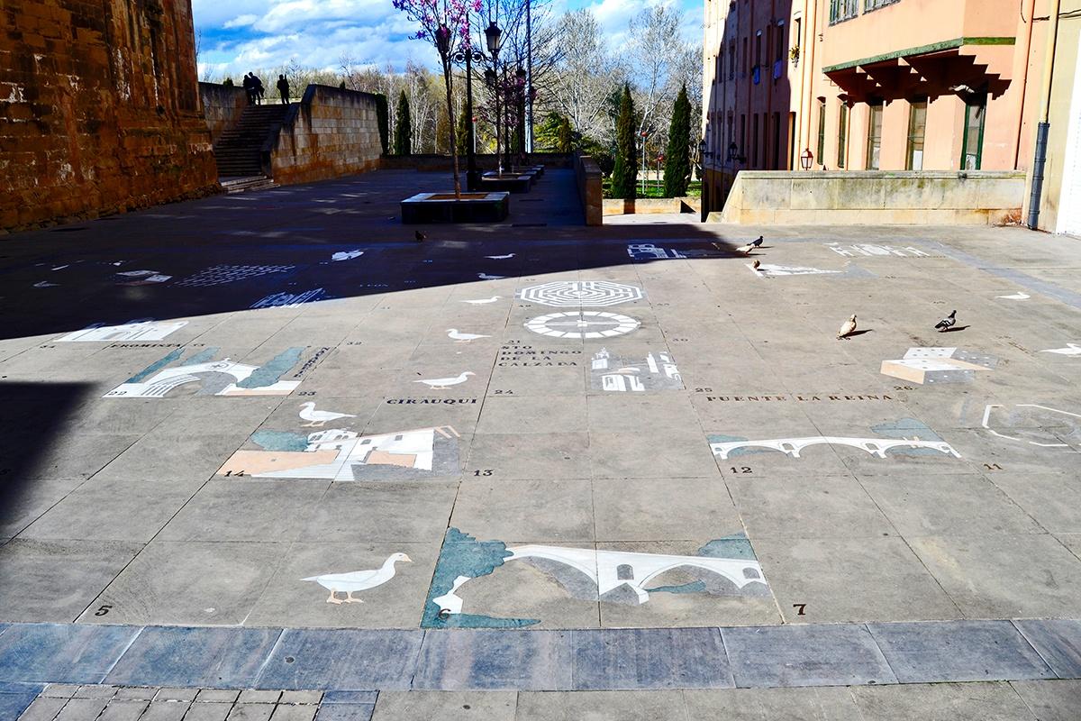 Juego de la Oca plaza Logroño