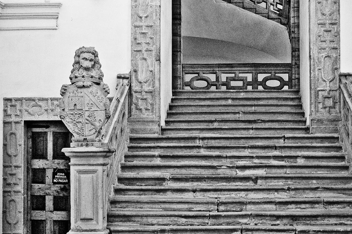 León Sala escalera Monasterio Yuso
