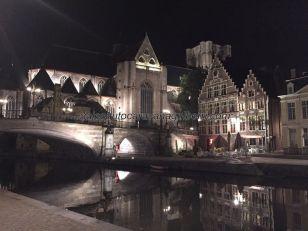 Iglesia y Puente San Miguel, nocturno