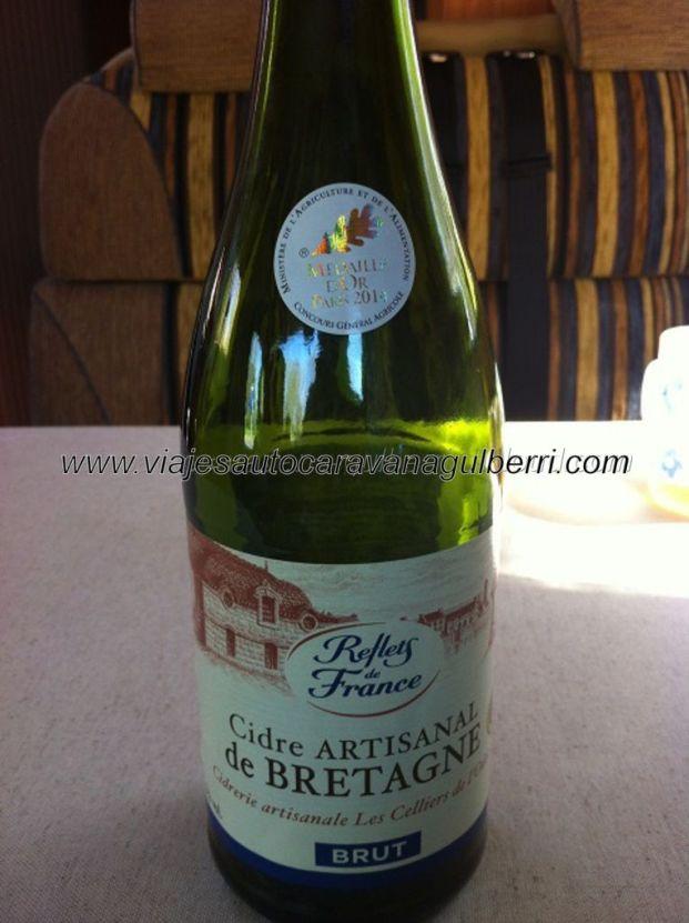 acabamos el viaje, y la última botella de cidre bretonne