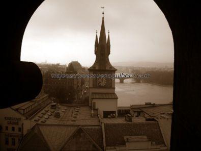 río Moldava desde Torre Ciudad Vieja